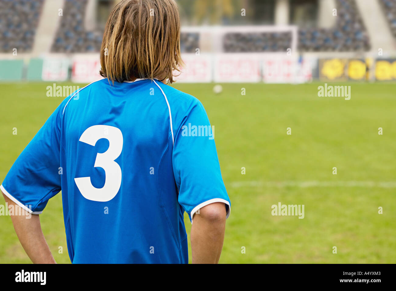 Footballer on the pitch - Stock Image