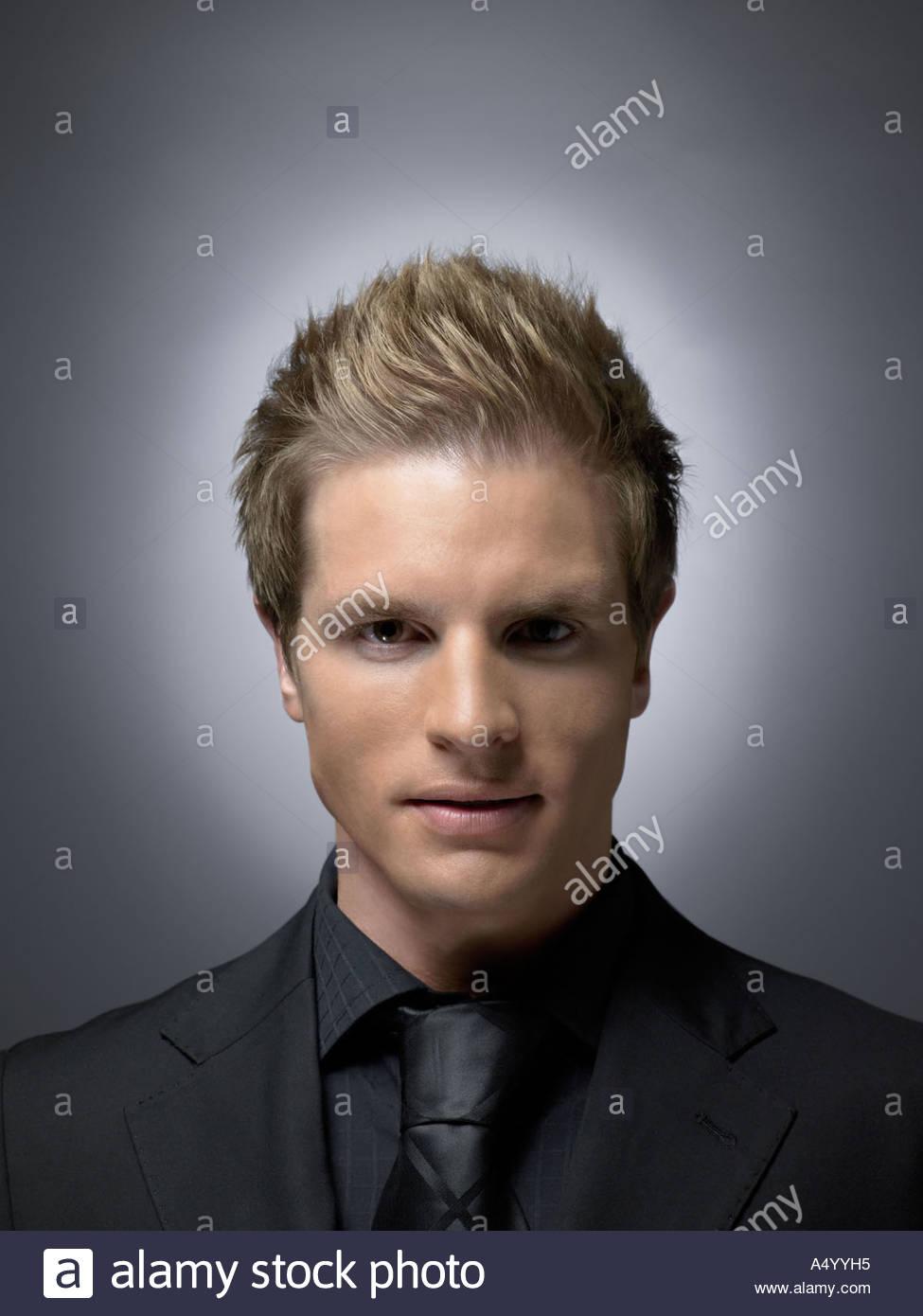Man wearing black - Stock Image