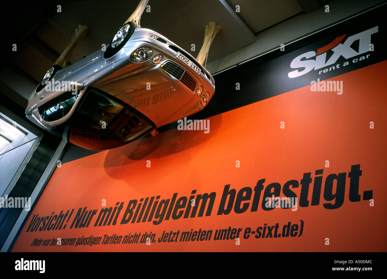 sixt car rental billboard at fuhlsb ttel airport in hamburg stock photo 6374923 alamy. Black Bedroom Furniture Sets. Home Design Ideas
