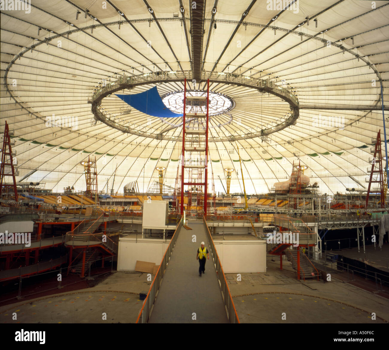 Interior Of The Millennium Dome In London During