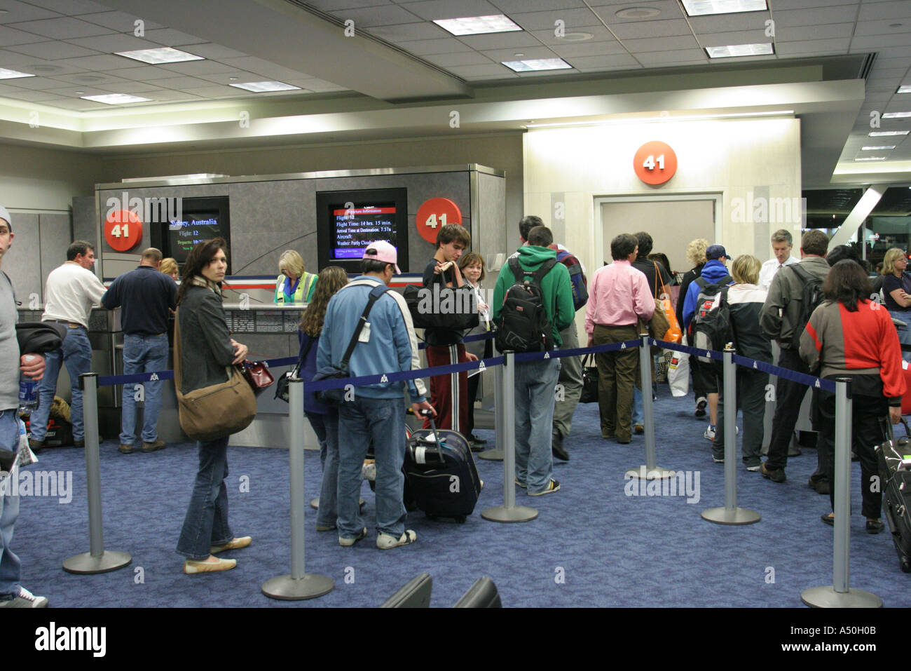 Los Angeles California Airport Lax Gate 41 Passengers