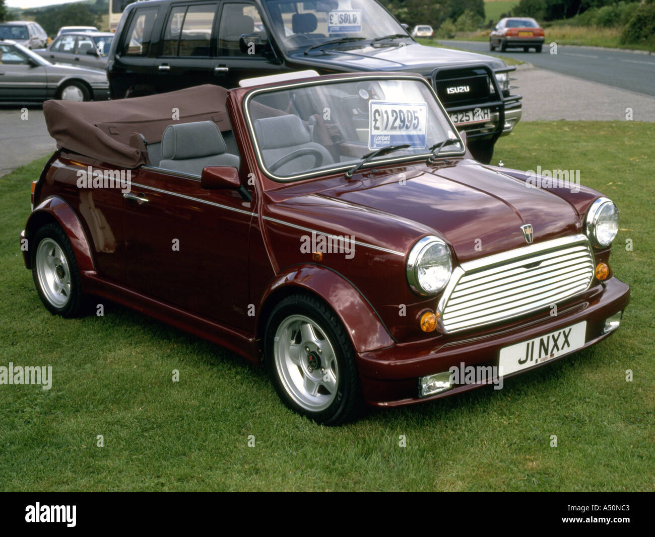 Cabriolet Style Classic Mini From Rover About 1990 Stock Photo
