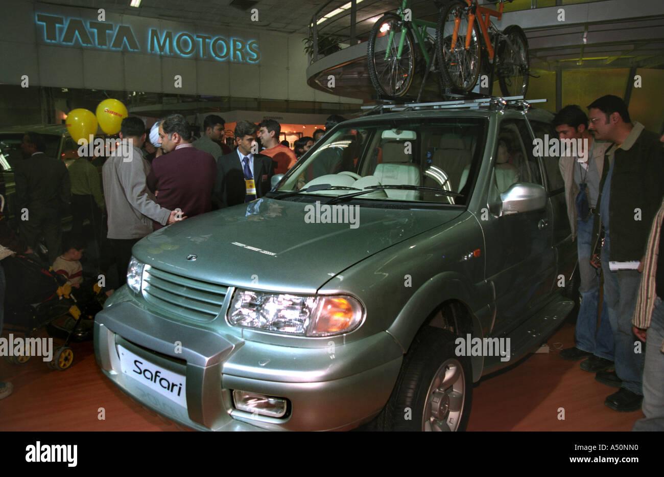 Tata Safari Car On Display At Auto Expo Stock Photo 6376463 Alamy