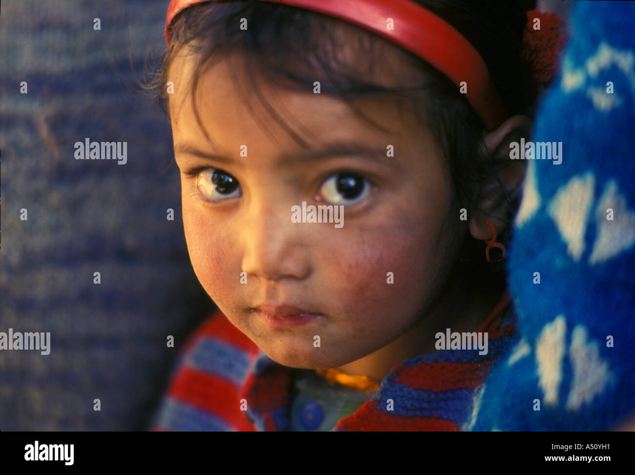Young Girl Keylong HP - Stock Image
