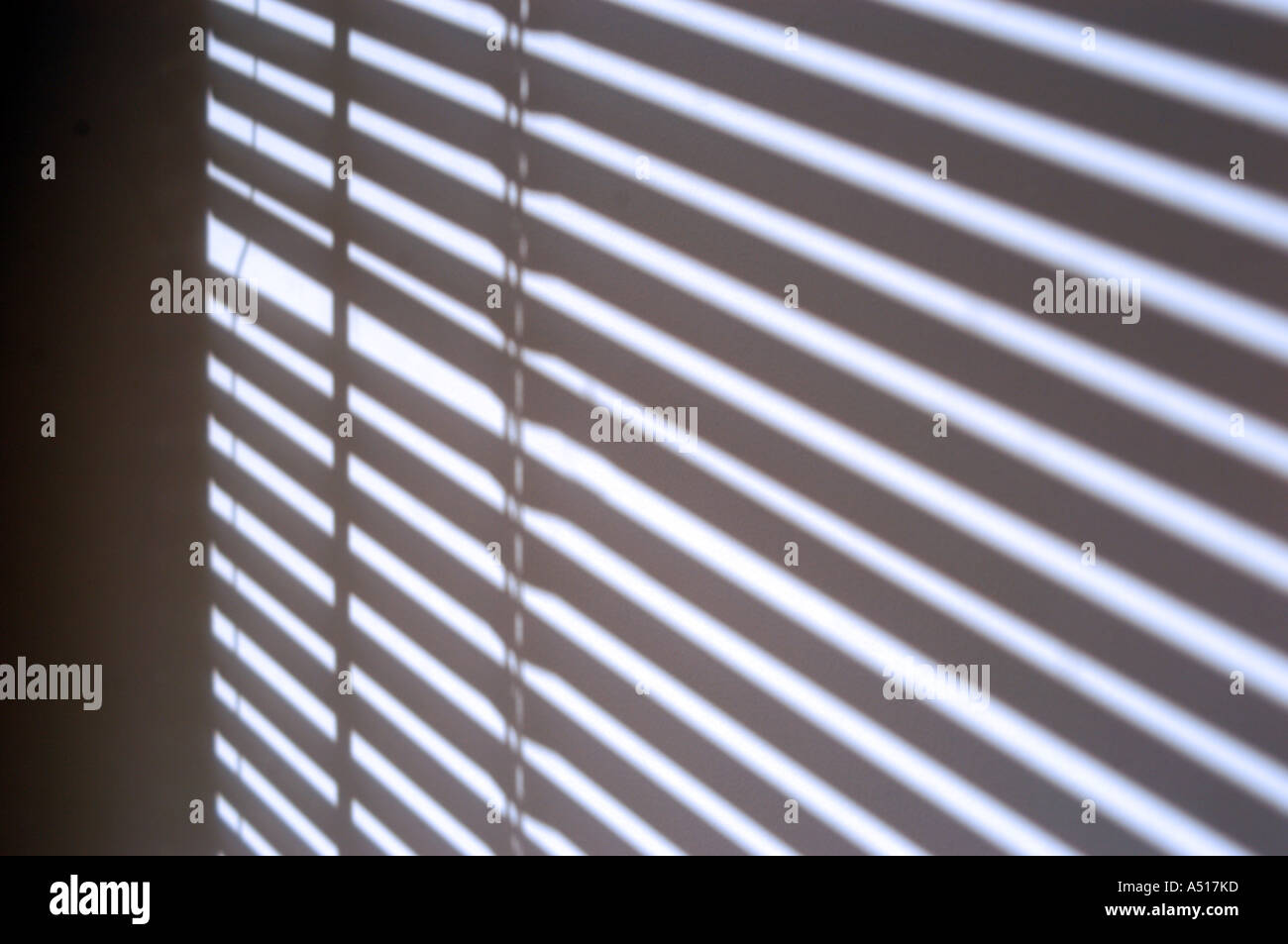 Shadow Of Blinds Cast On Wall Stock Photo 6379132 Alamy