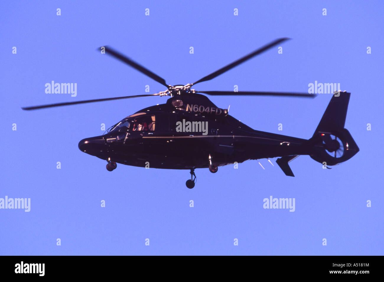 Eurocopter EC-155B landing at Luton Airport, UK - Stock Image
