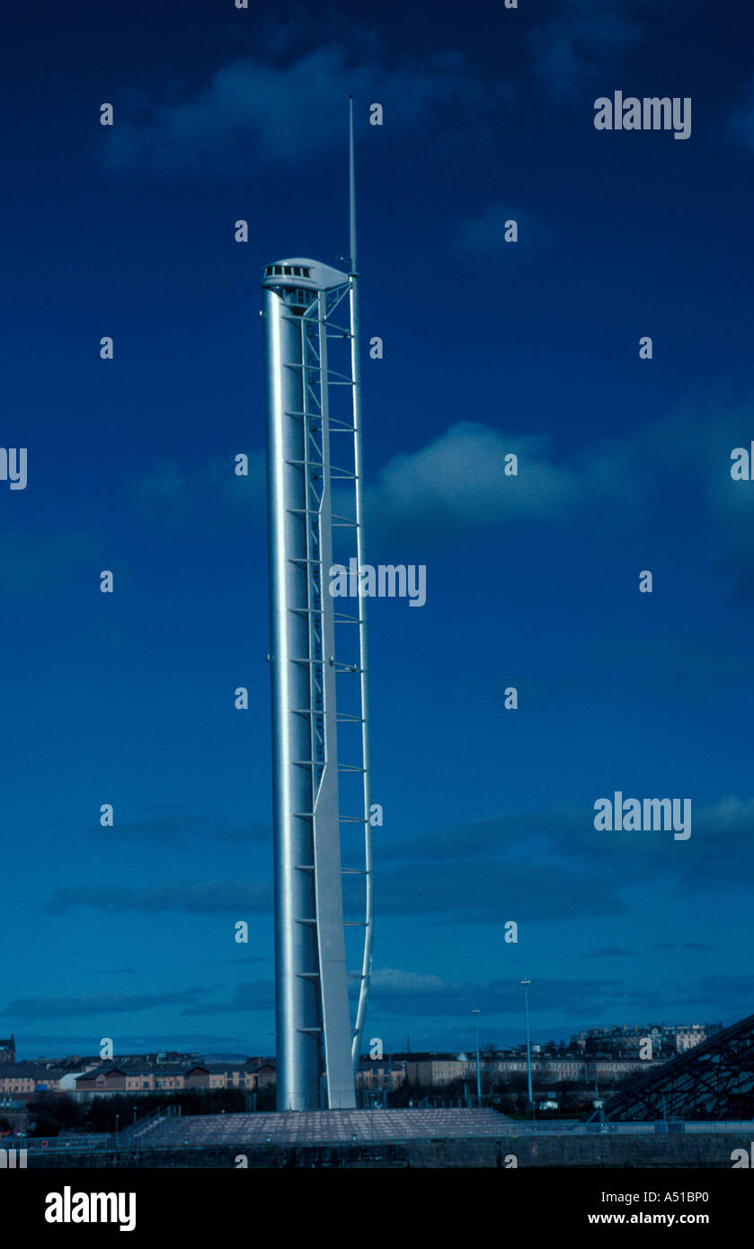 Science viewing tower Glasgow Scotland - Stock Image