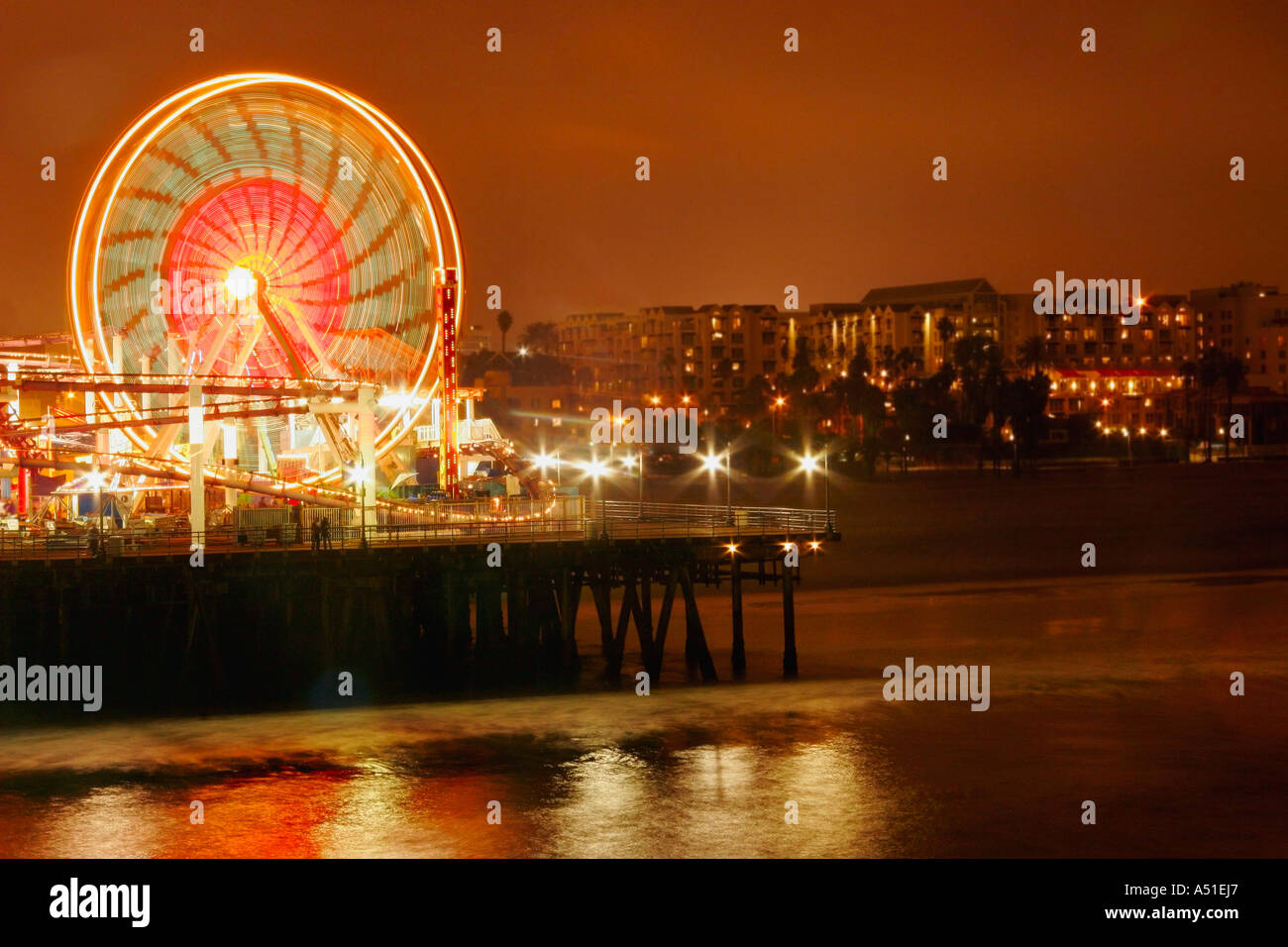 Ferris wheel at night Stock Photo