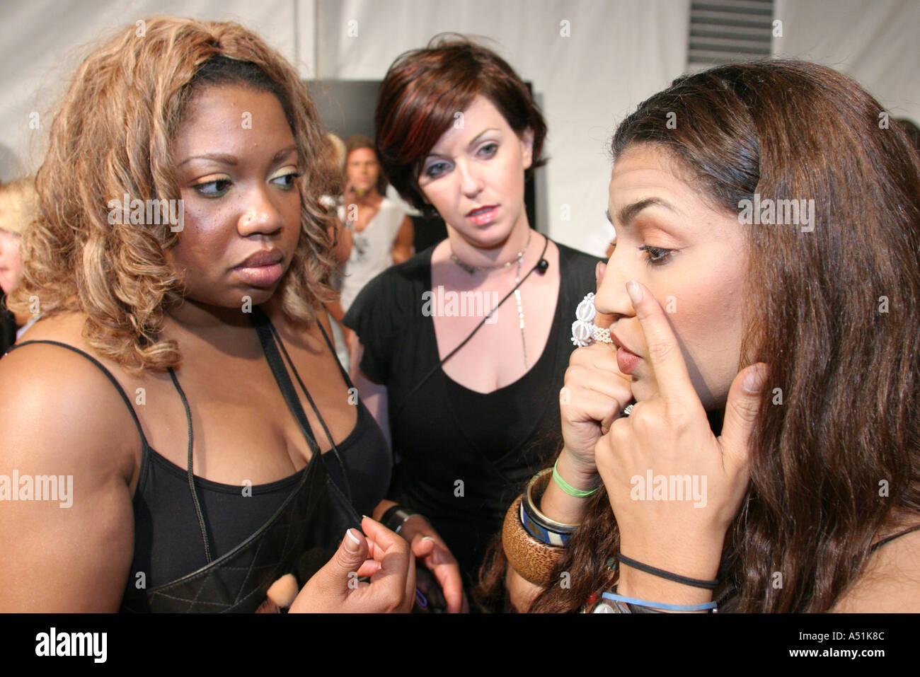 Miami Beach Florida South Beach Funkshion fashion event female makeup artists talking