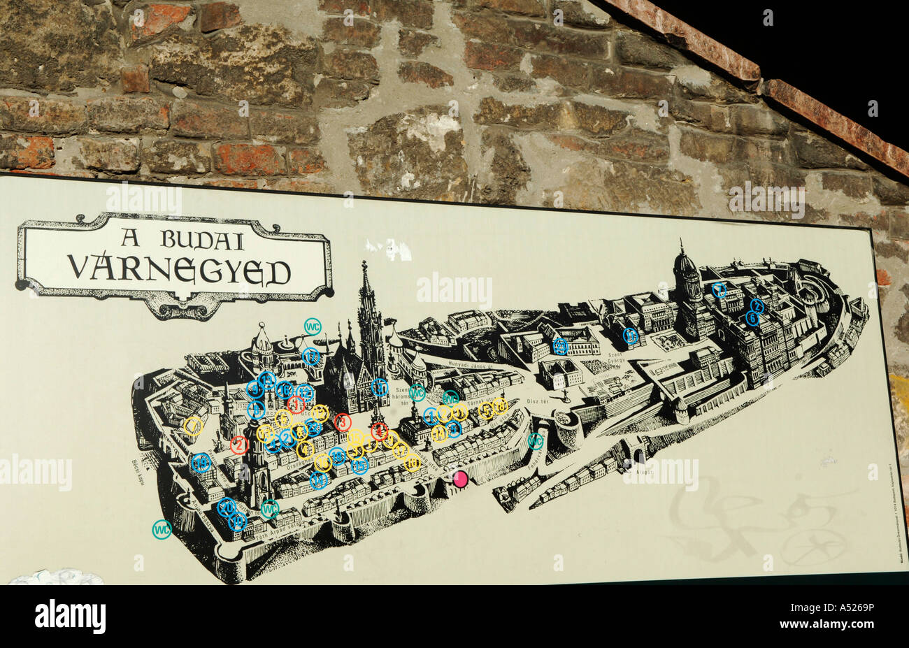 Budapest Map Of Castle Hill Stock Photos Budapest Map Of Castle