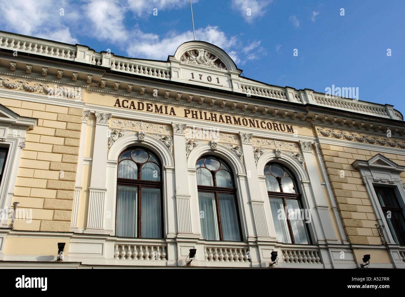 Ljubljana, Academia Philharmonicorum / Philharmony - Stock Image