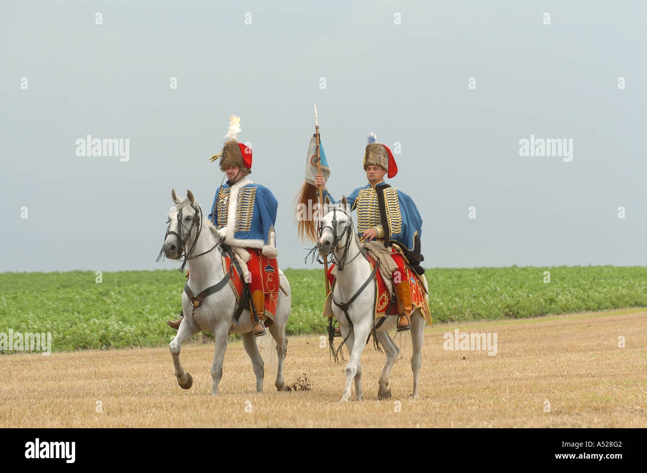 Napoleon film shooting of ORF in Hollabrunn - Stock Image