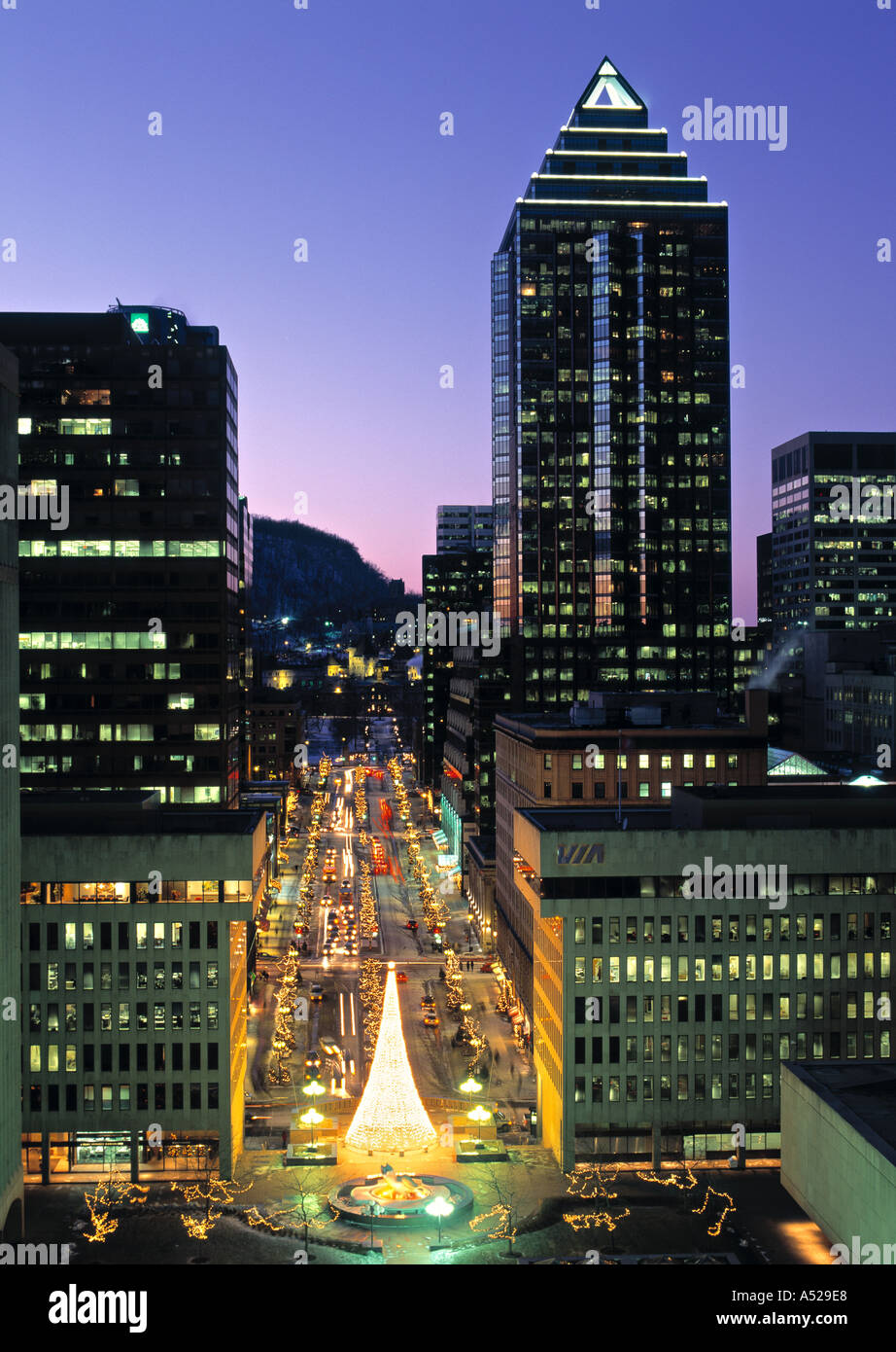 Place Ville Marie, Montreal, Quebec, Canada Stock Photo