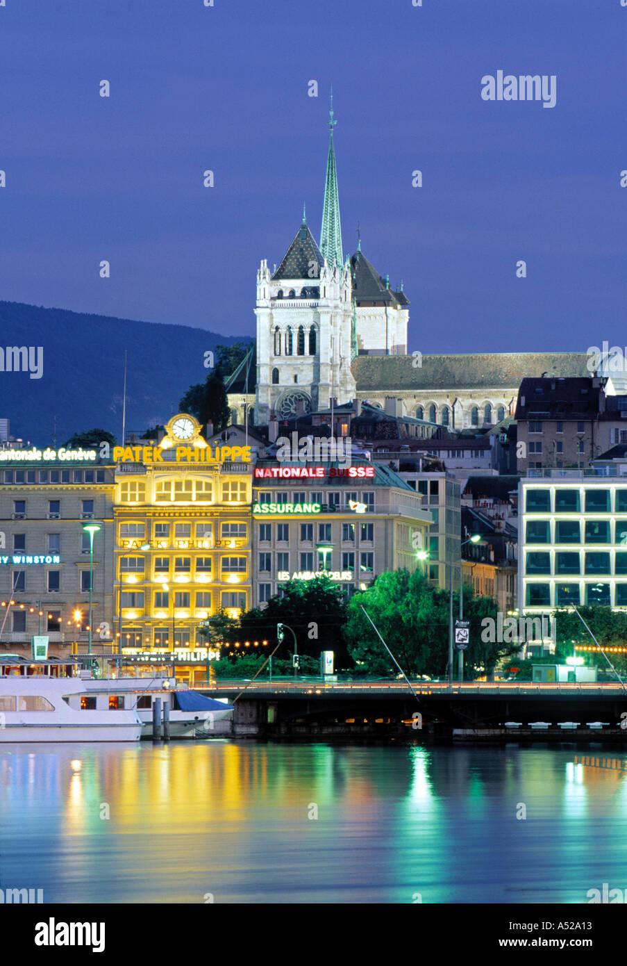 St. Pierre Cathedral, Geneva, Switzerland - Stock Image