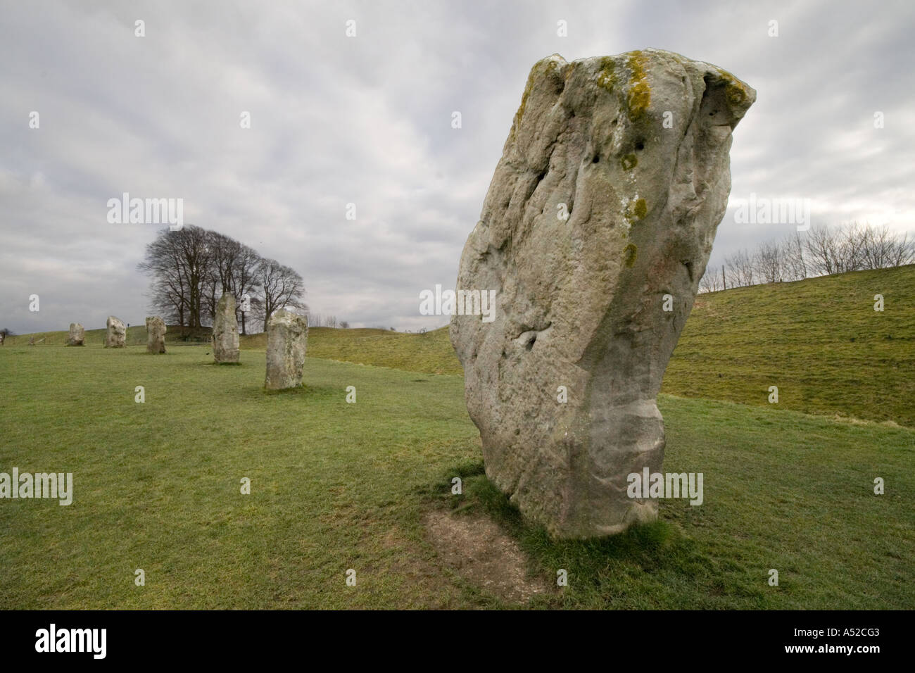 South West Sector Stone, Avebury Monument, Wiltshire England - Stock Image