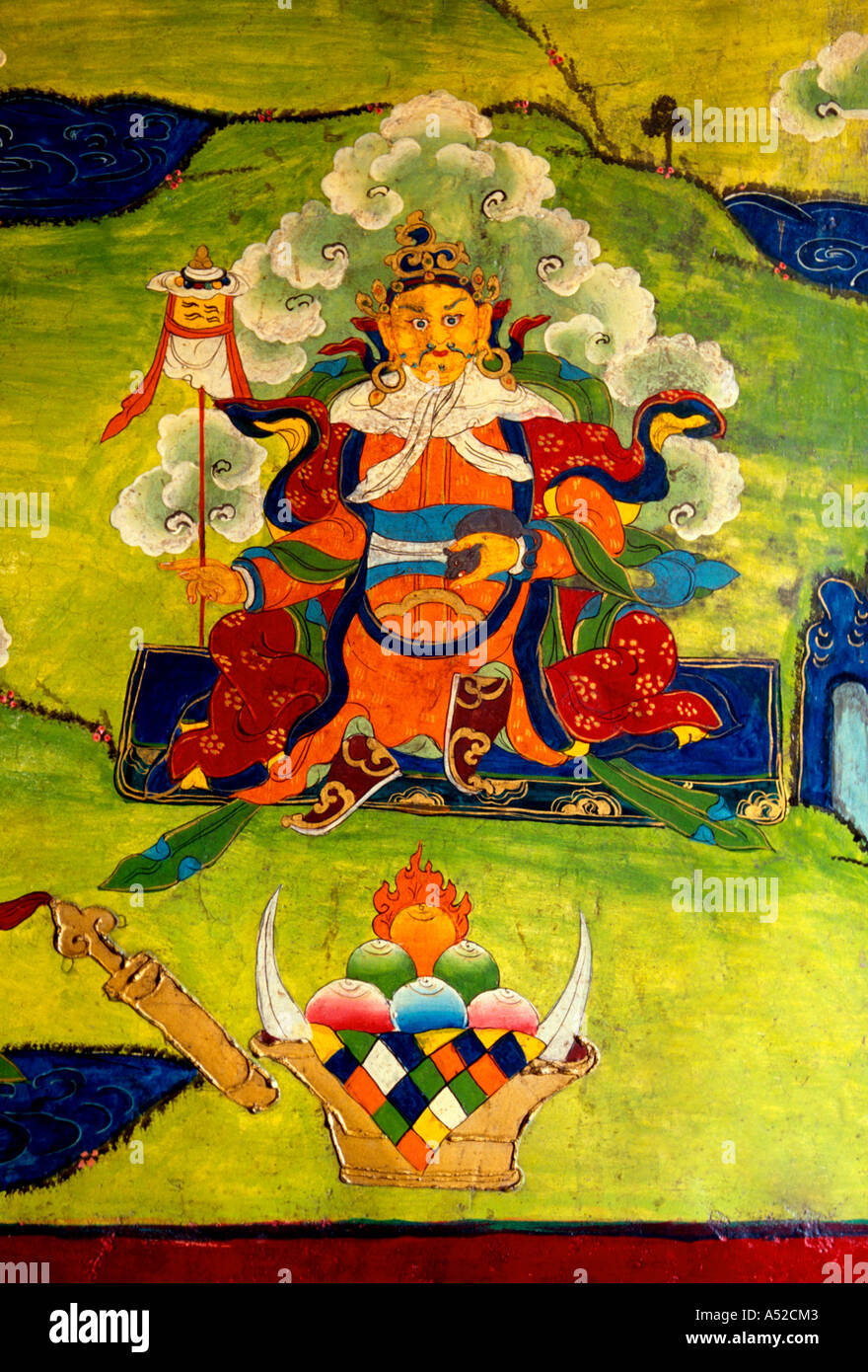 Tibetan Buddhism Wall Painting Holy Stock Photos & Tibetan Buddhism ...