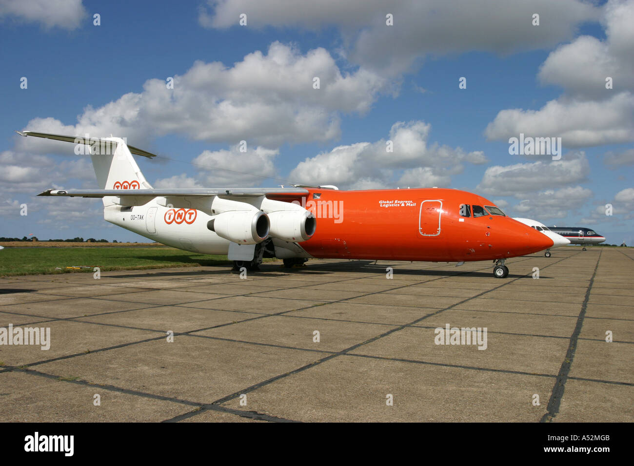 British Aerospace Bae 146 freighter aircraft - Stock Image