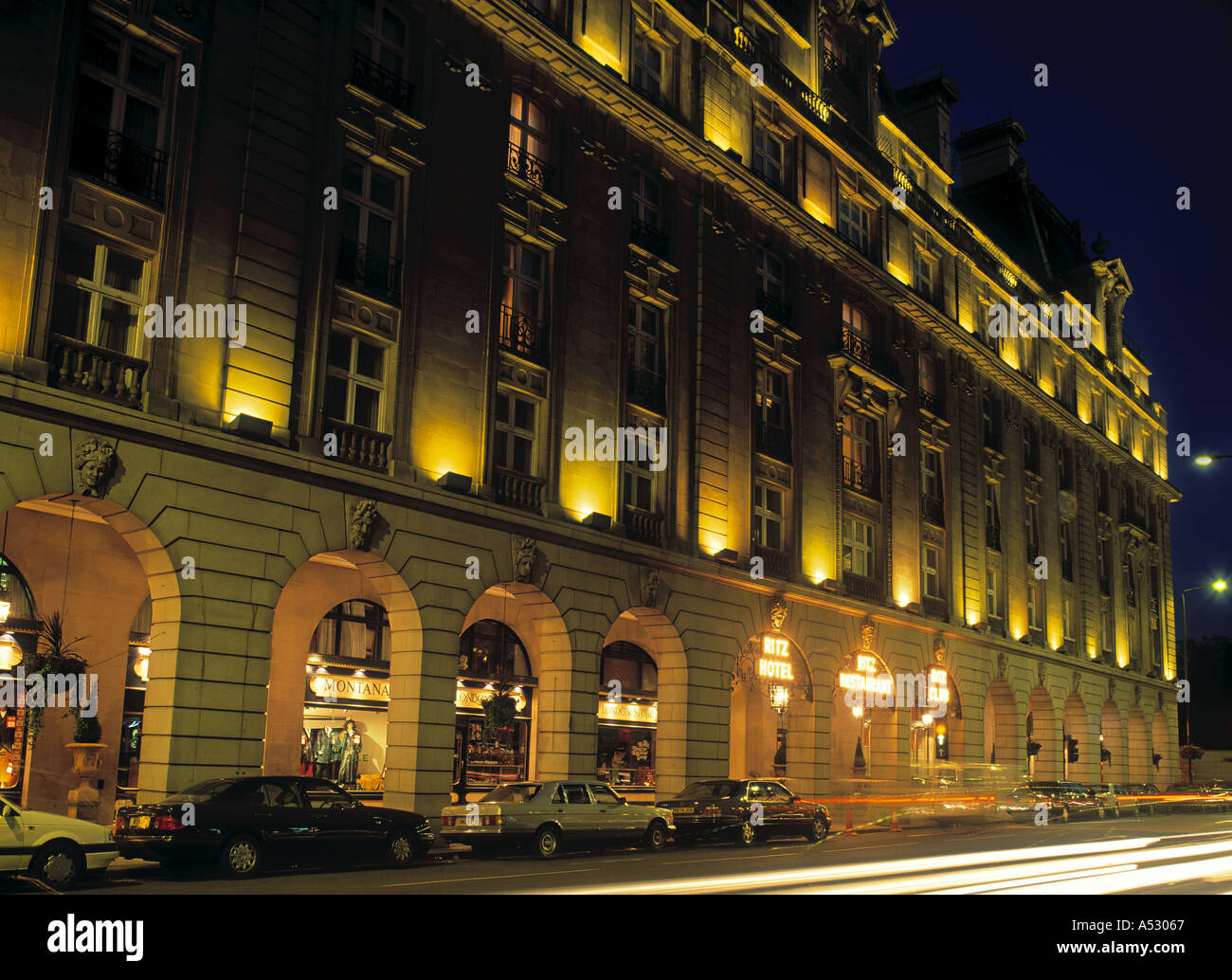 The Ritz Hotel, Picadilly, London, England - Stock Image