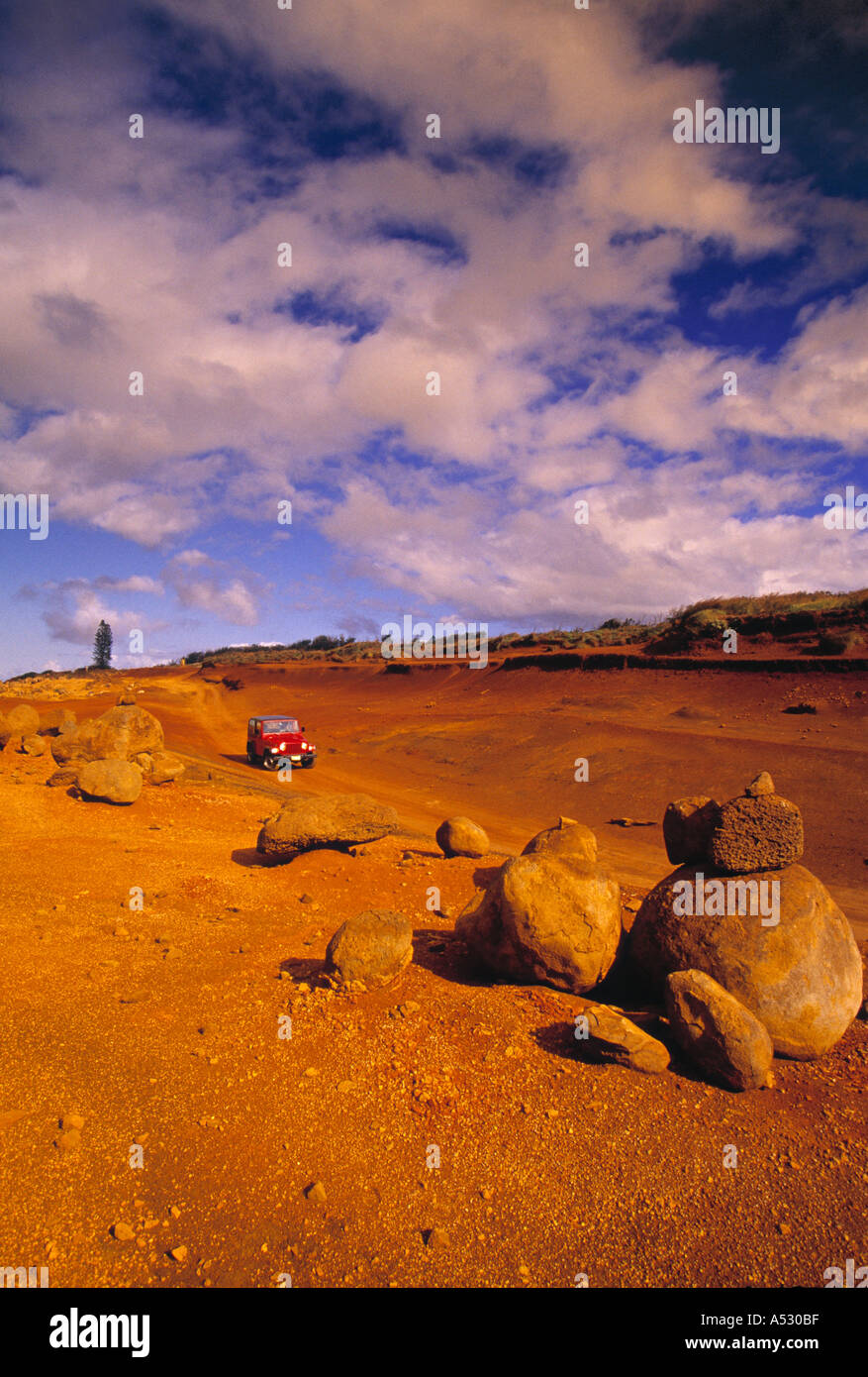 Garden of the Gods, Lanai, Hawaii, USA - Stock Image