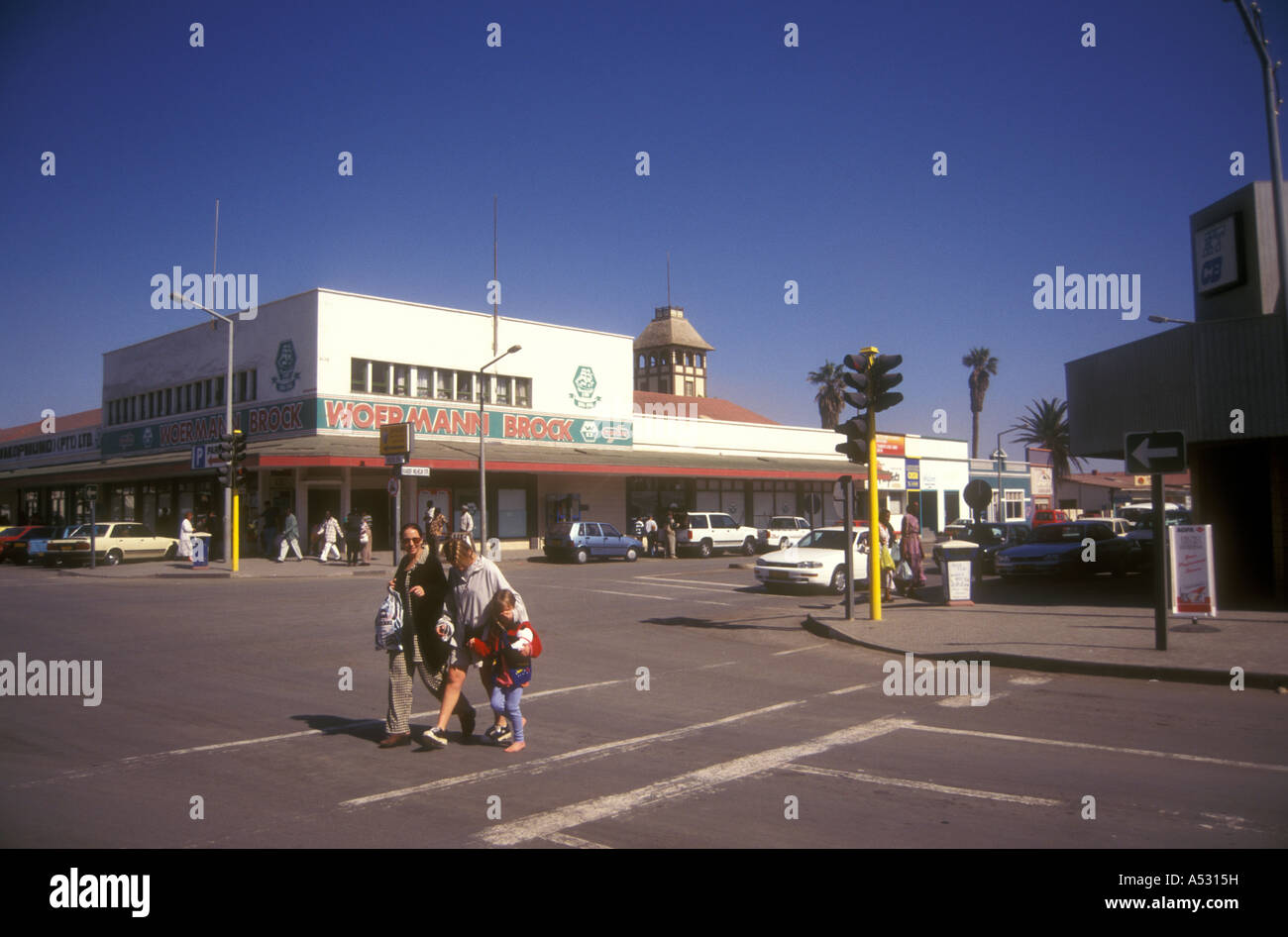 Street Scene In Windhoek Namibia South West Africa Kaiser Wilhelm Stock Photo 11180236 Alamy