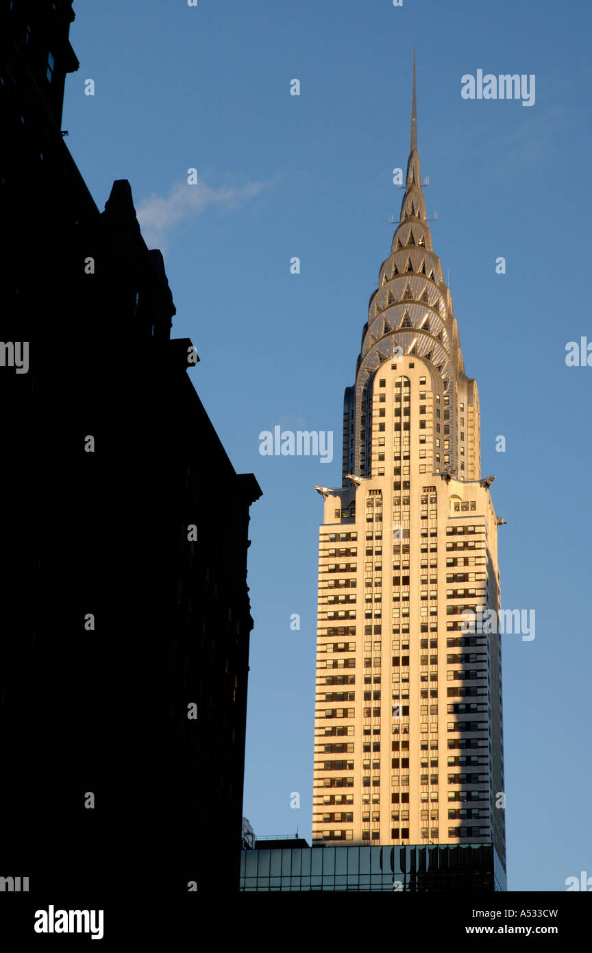 Chrysler Building, late afternoon light - Stock Image
