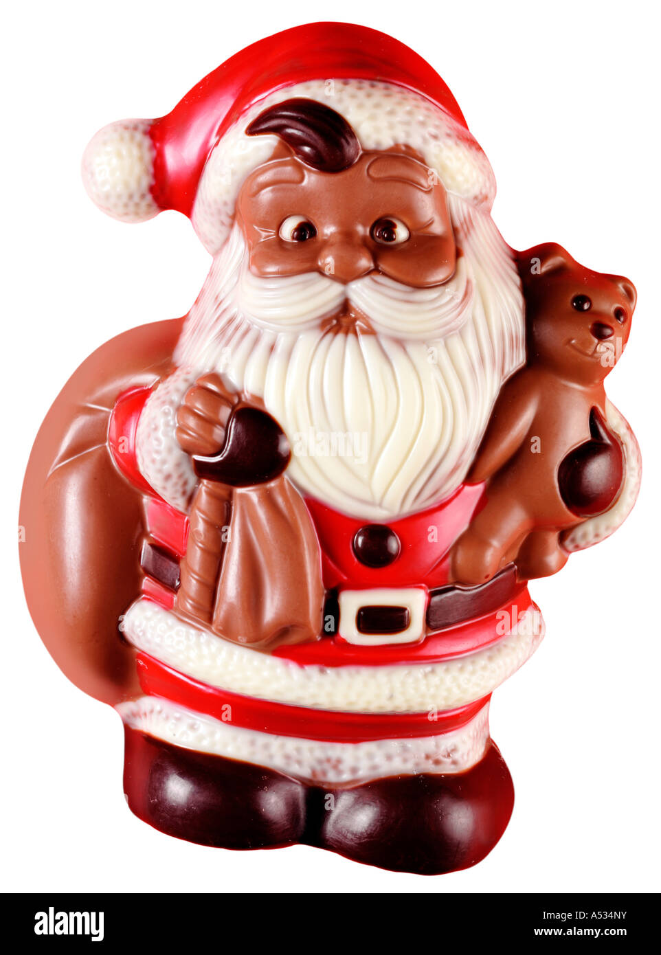 CHOCOLATE CHRISTMAS SANTA CUT OUT - Stock Image