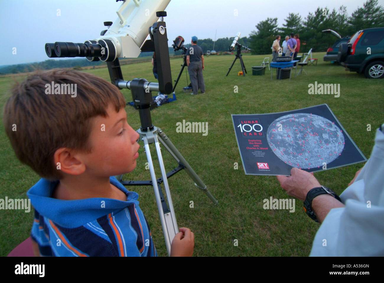 NOVAC Astronomy Club gathers at CM Crockett Park VA - Stock Image