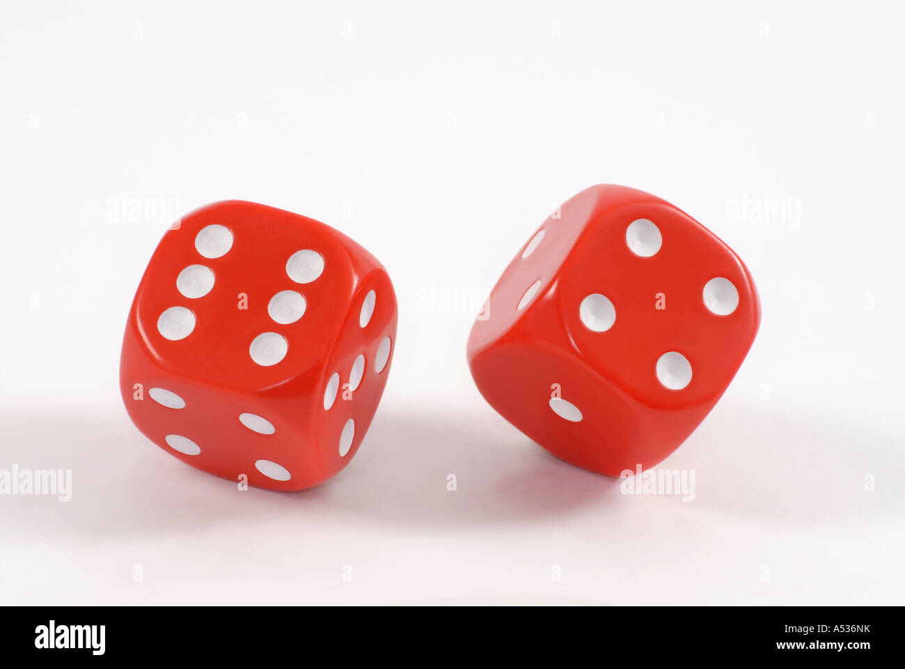 Pair of red dice - Stock Image