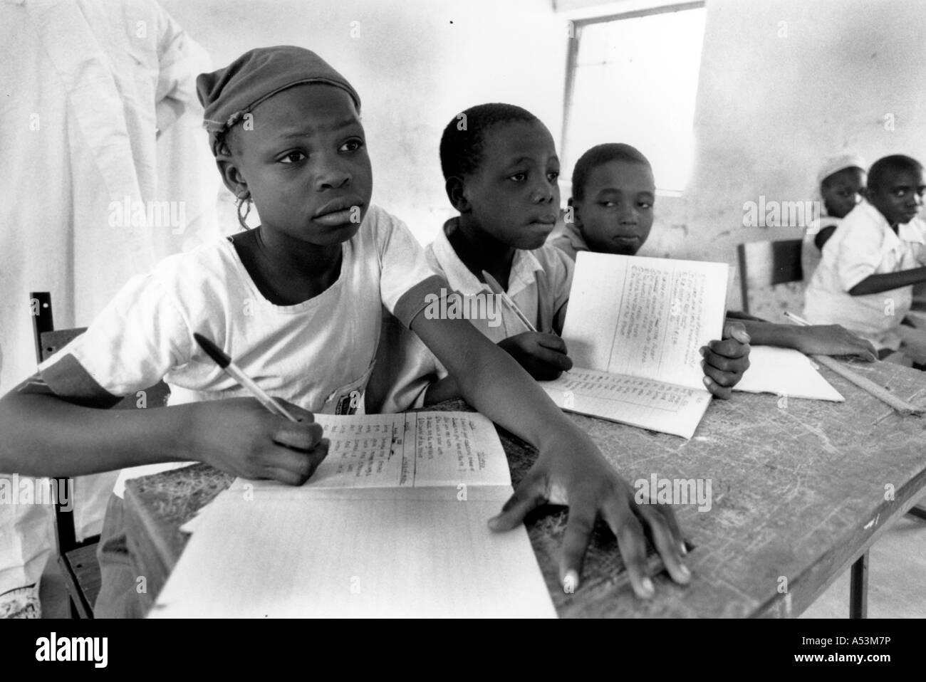 Painet ha1377 191 black and white schools school children bauchi nigeria country developing nation less economically - Stock Image
