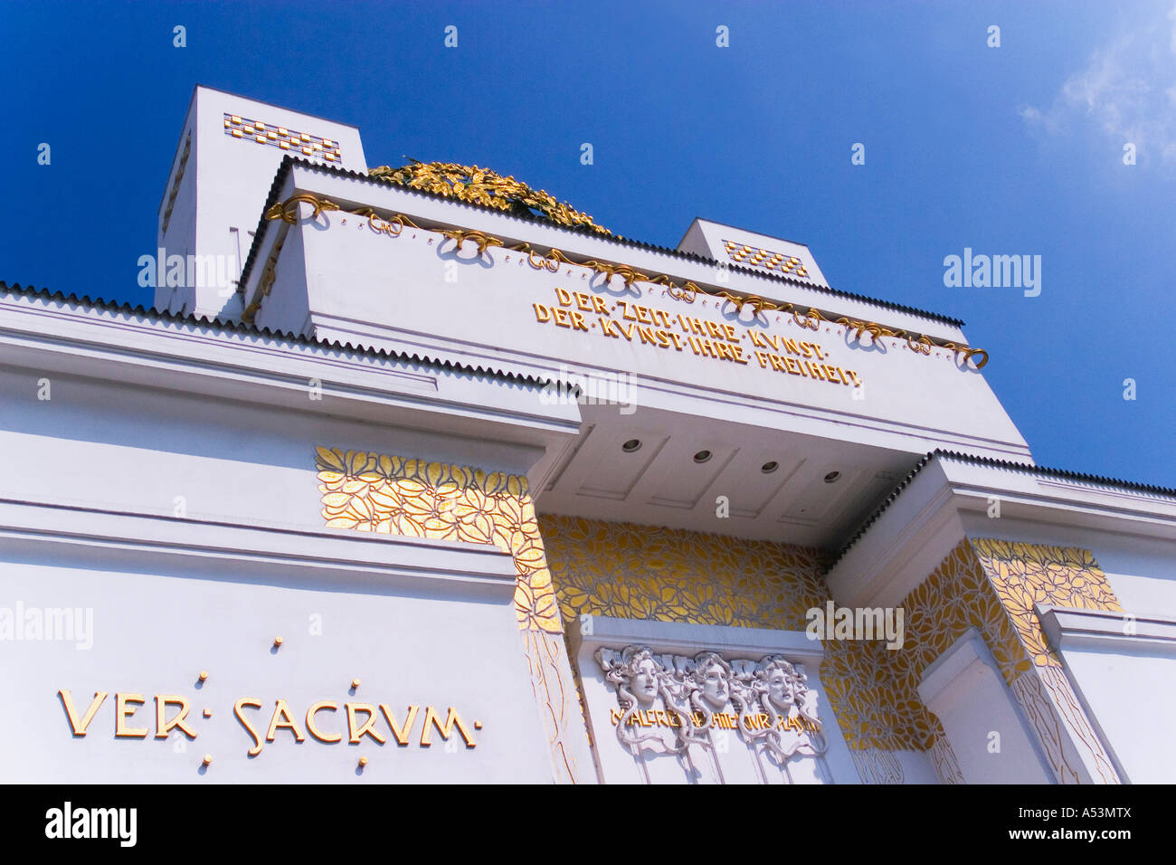 Secession Building Art Gallery and Museum Vienna Austria Europe EU - Stock Image