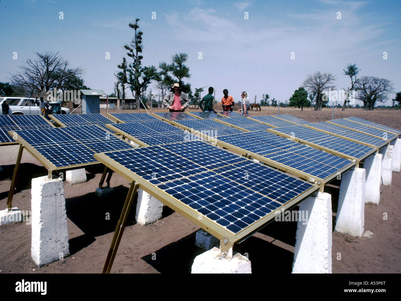 Painet ha1667 3362 technology solar voltaic panels thies senegal country developing nation less economically developed - Stock Image