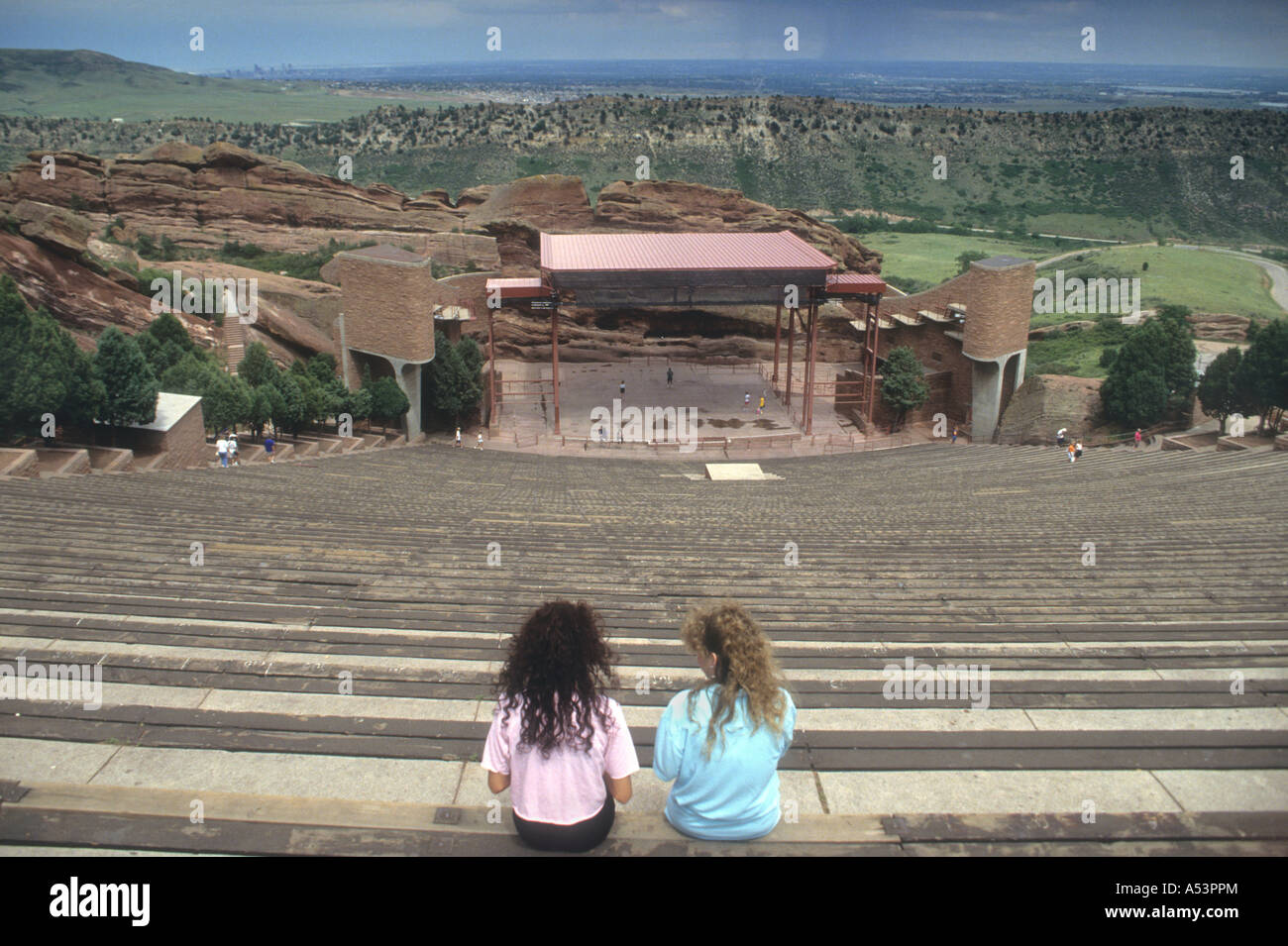 Red Rock Open Air Amphitheatre In Colorado USA. - Stock Image