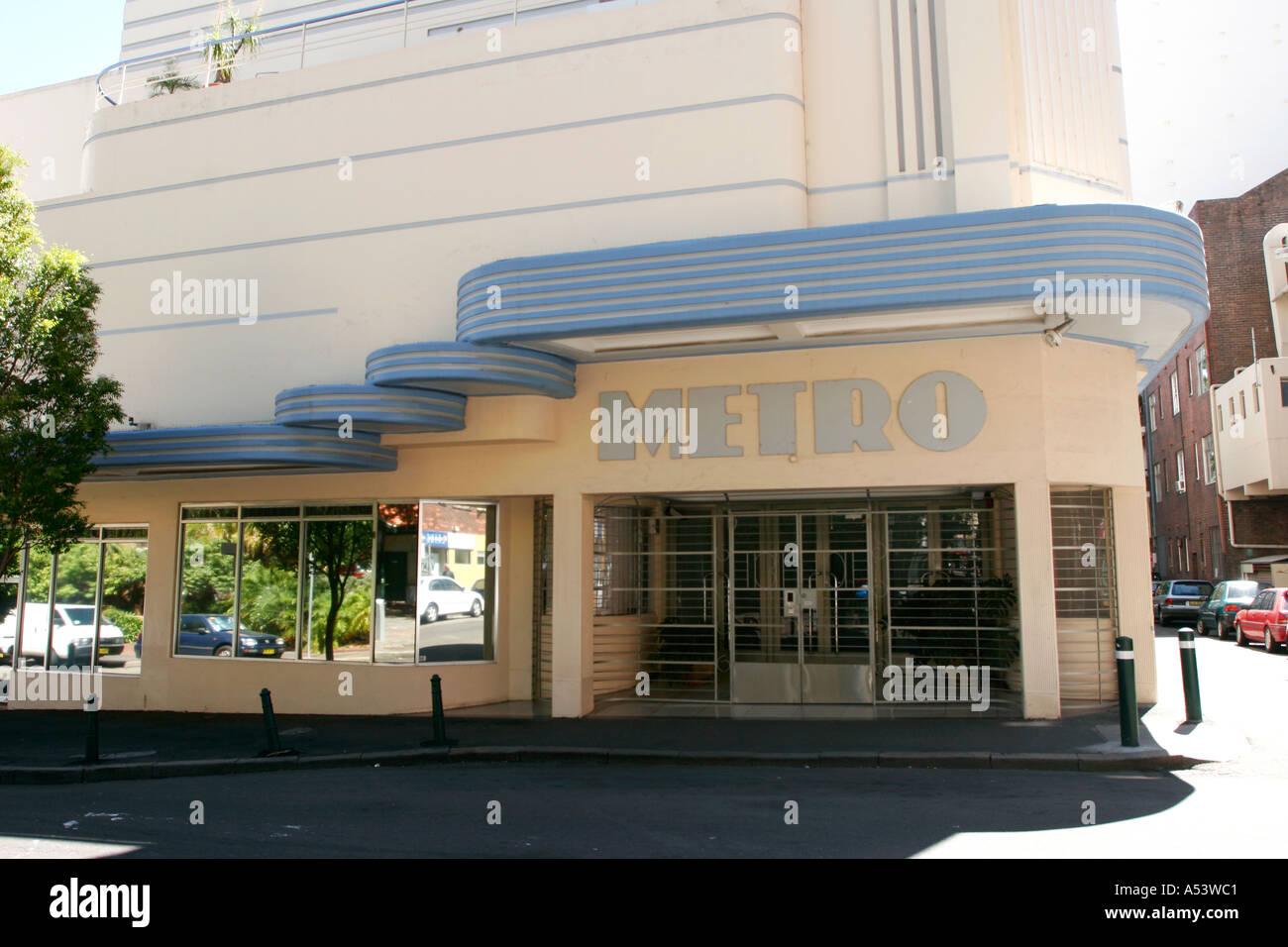 art deco cinema in the kings cross area of sydney australia stock photo 3653056 alamy. Black Bedroom Furniture Sets. Home Design Ideas