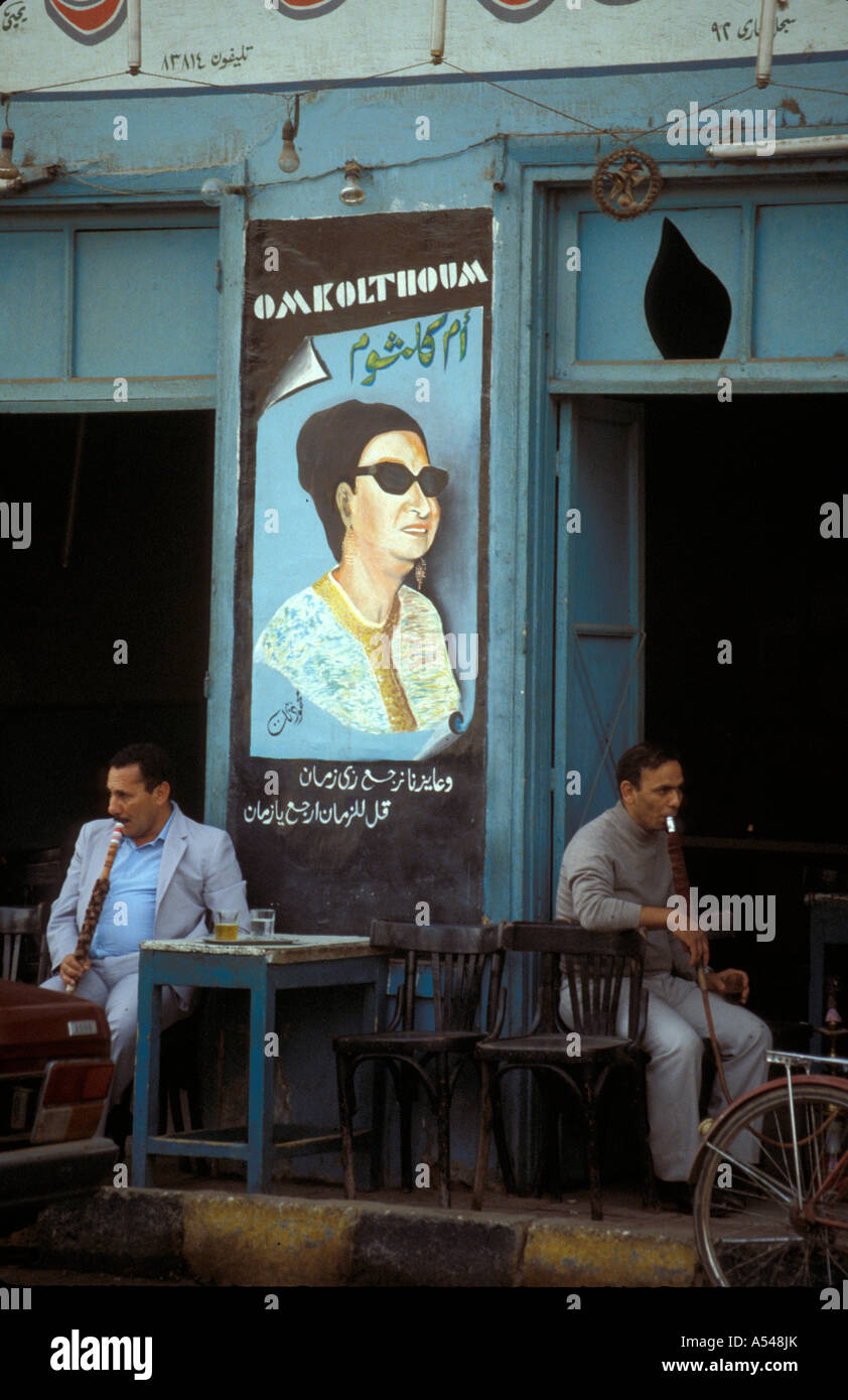 Painet hn1723 3170 egypt picture singer om koulthum cafe luxor country developing nation less economically developed - Stock Image