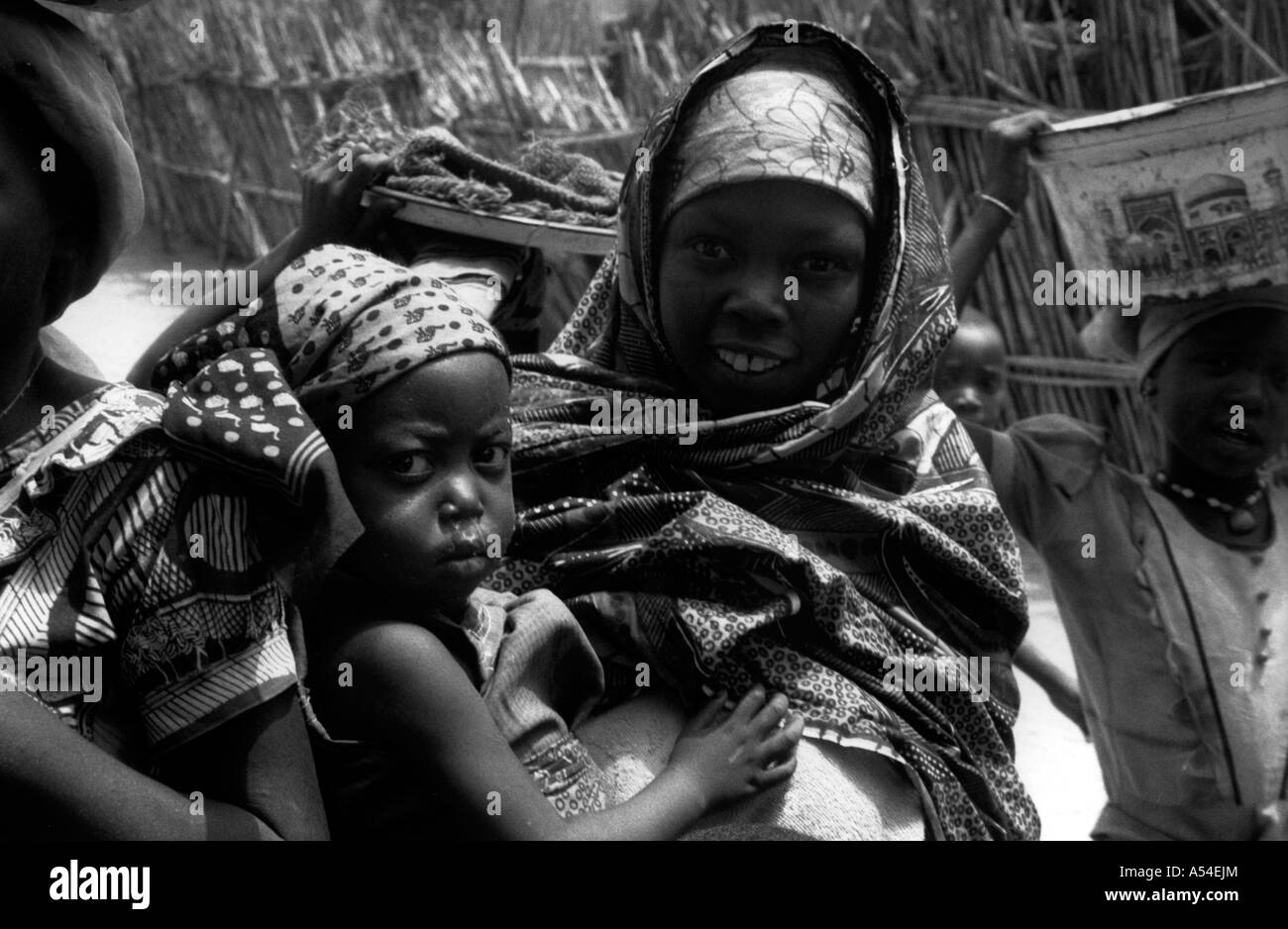 Painet hn2018 706 black and white children bauchi nigeria country developing nation less economically developed - Stock Image