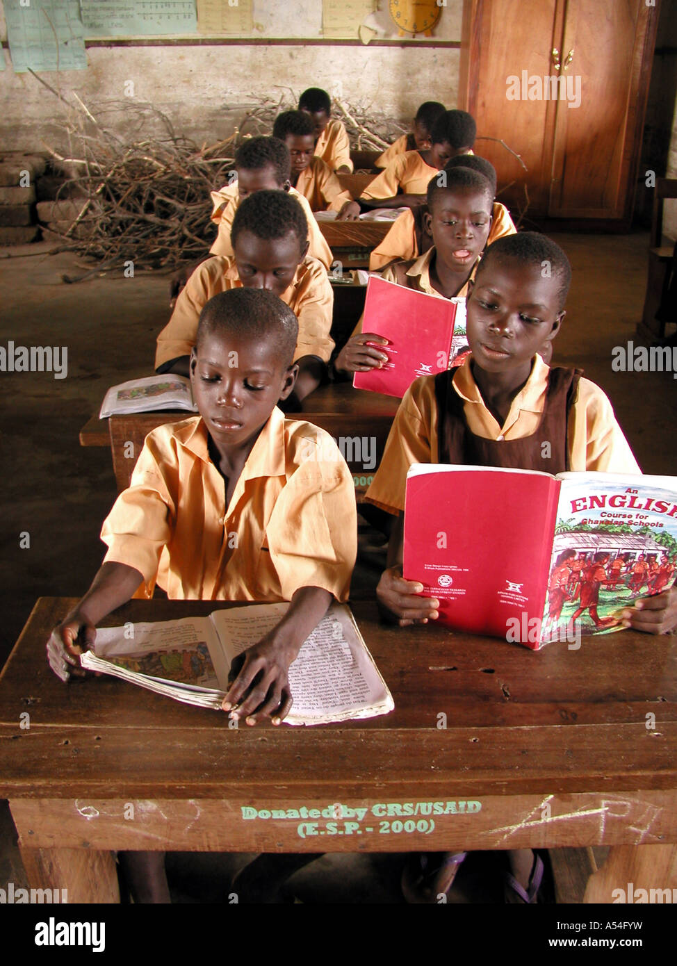 Painet hn2247 7829 children boys ghana school supported by crs bolgatanga country developing nation less economically - Stock Image
