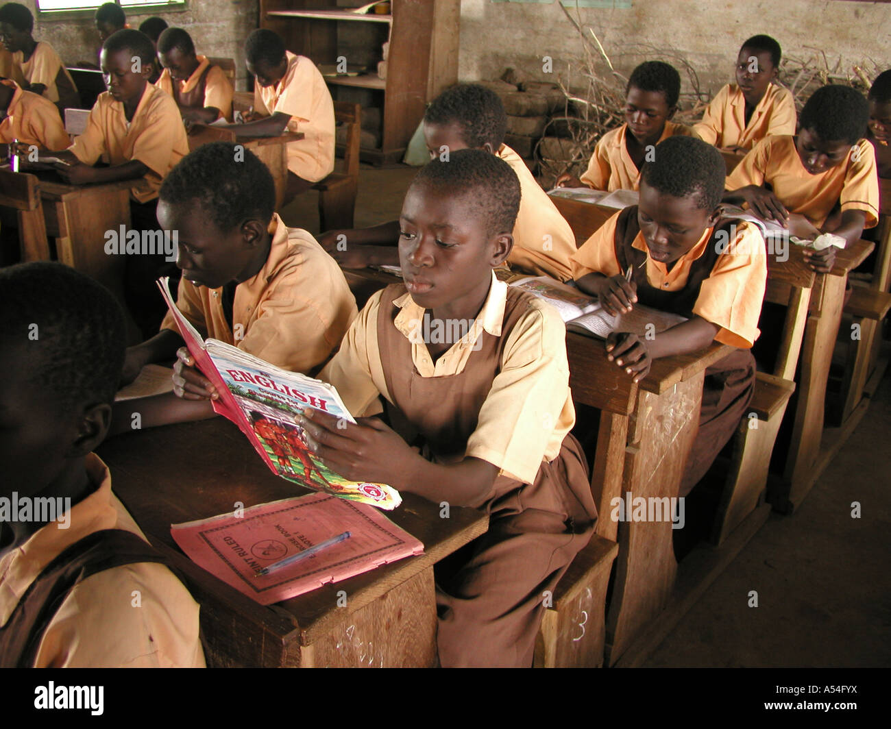 Painet hn2248 7830 children boys ghana school supported by crs bolgatanga country developing nation less economically - Stock Image