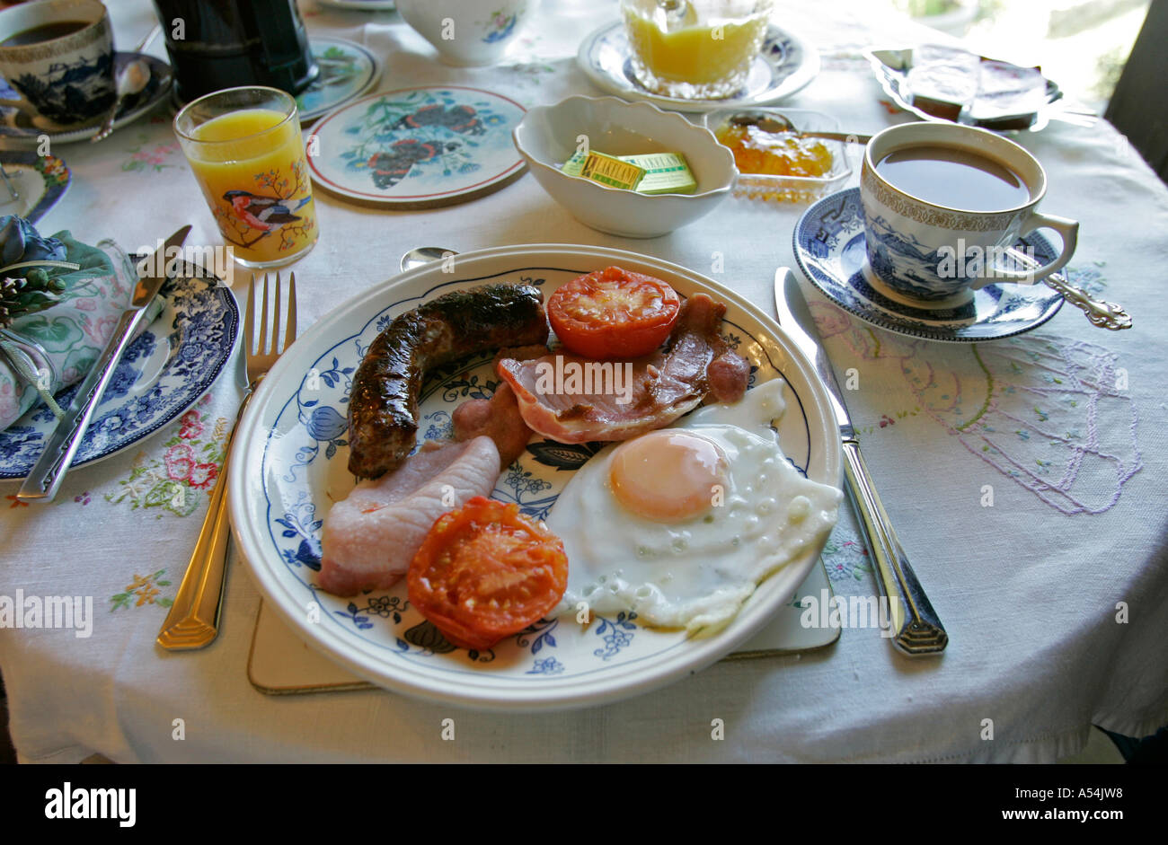 Crook, GBR, 21. Aug. 2005 - Typical english breakfast. - Stock Image