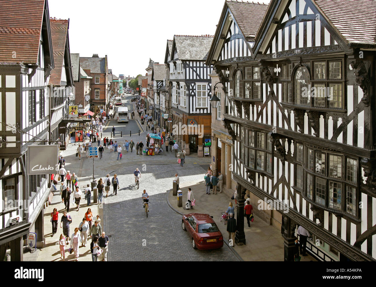 Chester, GBR, 23. Aug. 2005 - View to Foregate St. in Chester. - Stock Image