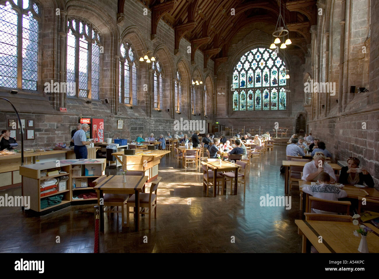 Chester, GBR, 23. Aug. 2005 - The Refectory Restaurant inside the Chester cathedral. - Stock Image
