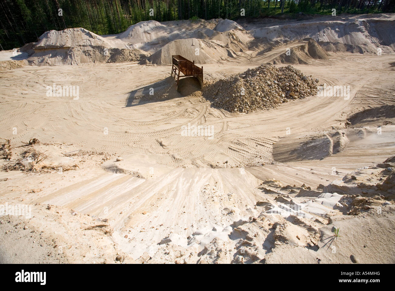 Sandpit in a sandy ridge - Stock Image