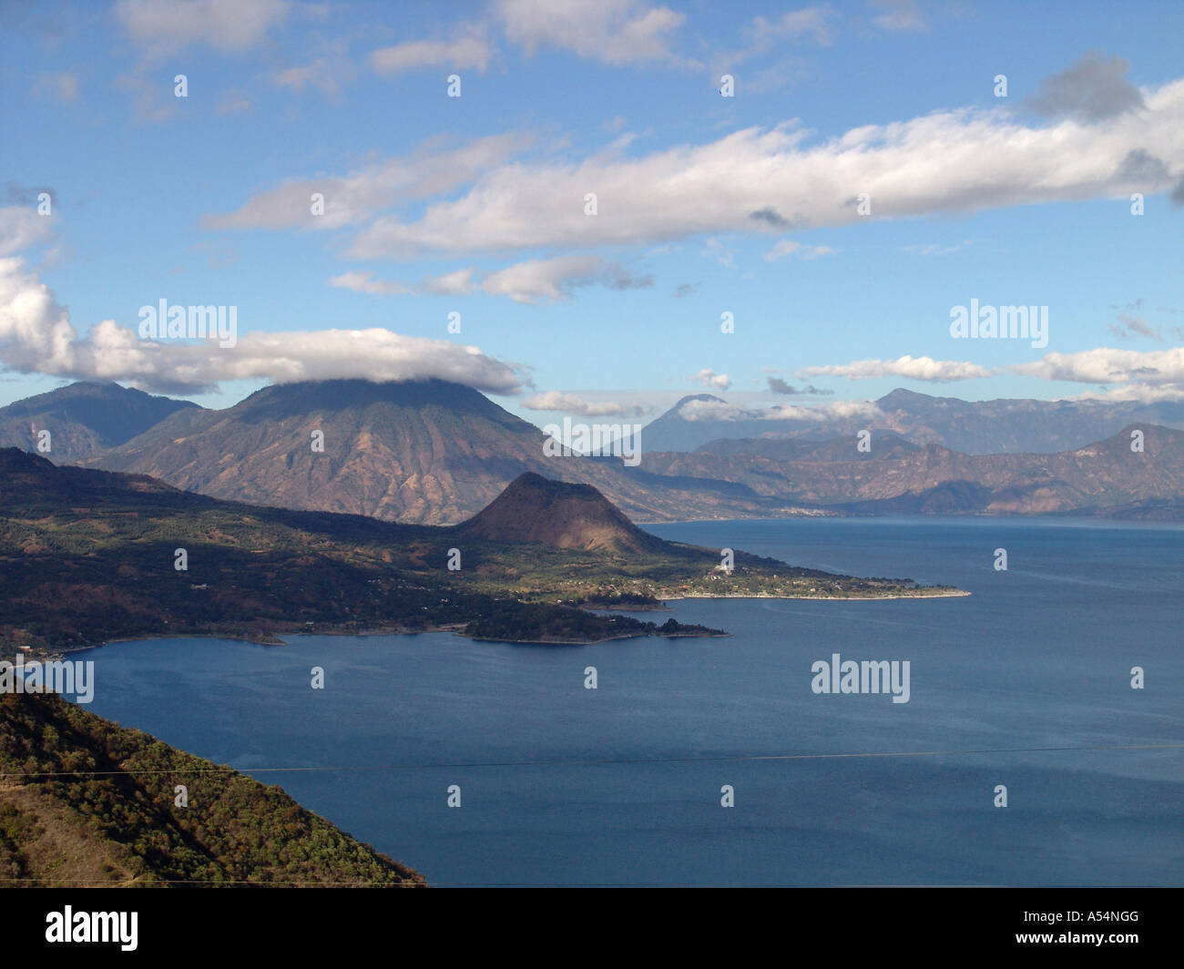 Painet ip1708 guatemala view over lake atitlan country developing nation less economically developed culture emerging - Stock Image