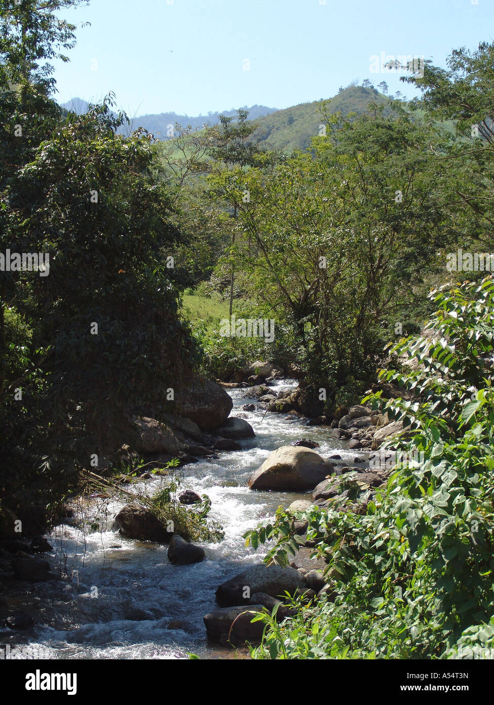 Painet ip1923 honduras pristine mountain stream agua caliente copan country developing nation less economically - Stock Image