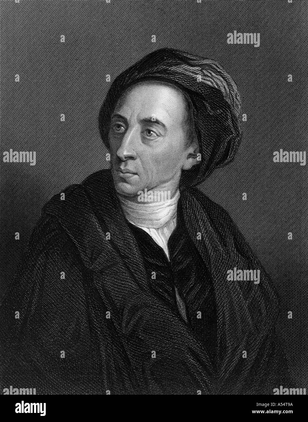 ALEXANDER POPE English poet 1688 1744 - Stock Image