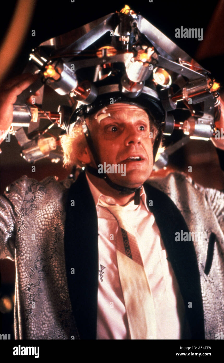 BACK TO THE FUTURE 1985 film with Christopher Lloyd - Stock Image