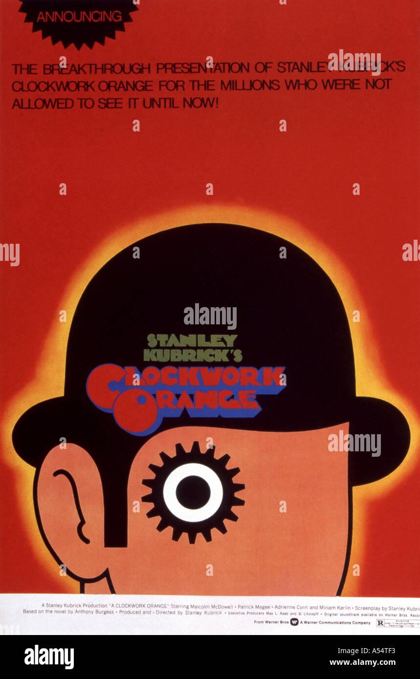 CLOCKWORK ORANGE Poster for the 1971 film directed by Stanley Kubrick - Stock Image