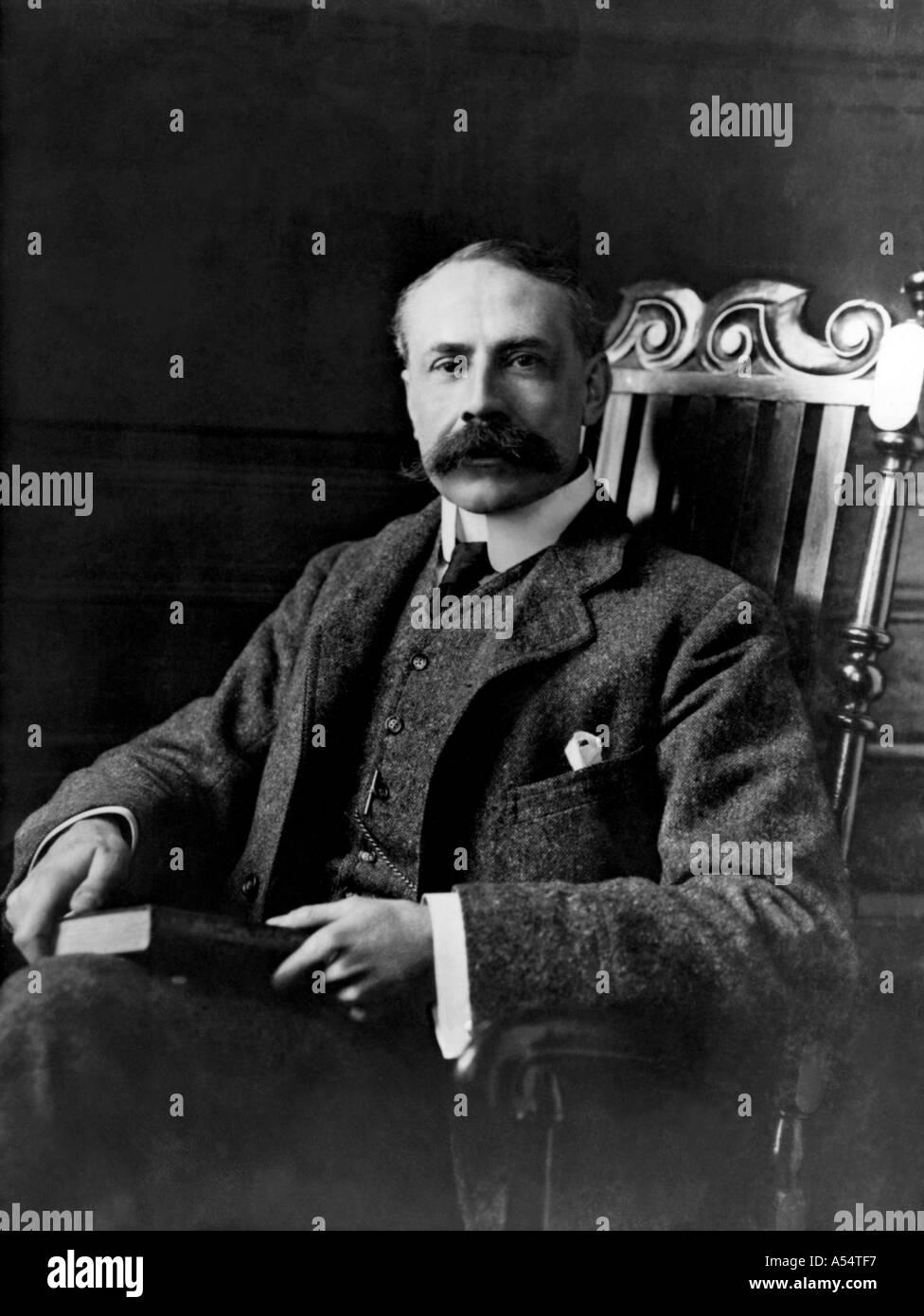 EDWARD ELGAR British composer 1857 1934 - Stock Image