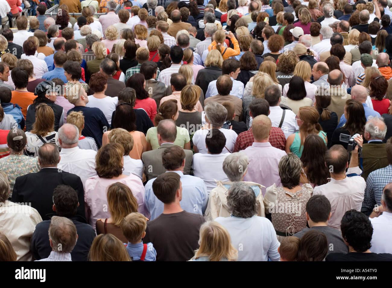 Audience Landshut Bavaria Germany - Stock Image