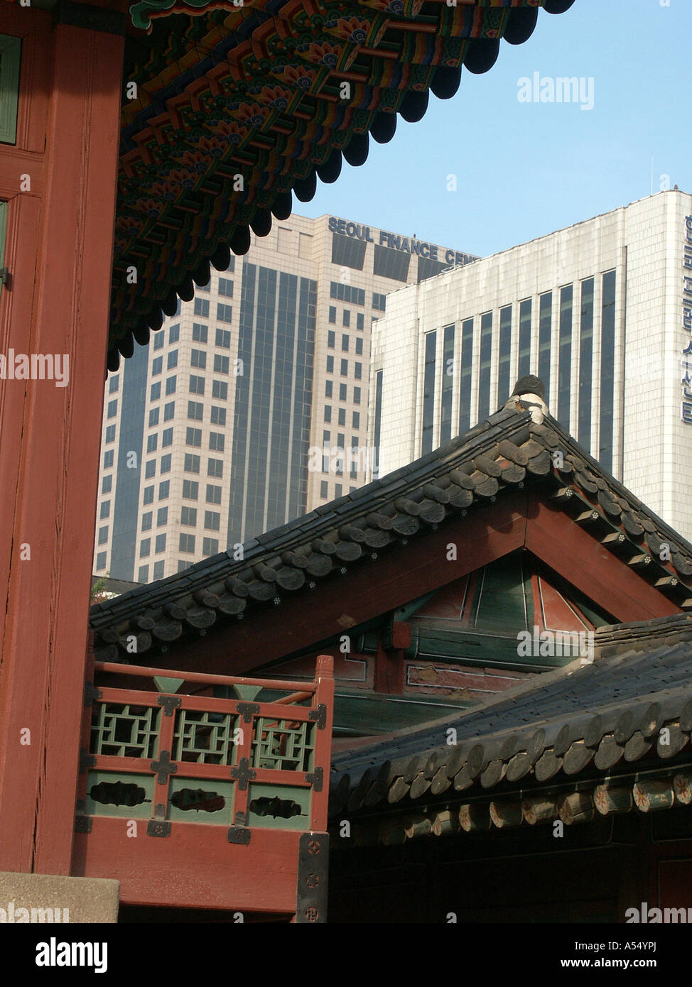 Painet ip2231 korea old new royal palace seoul 2003 country developing nation less economically developed culture - Stock Image