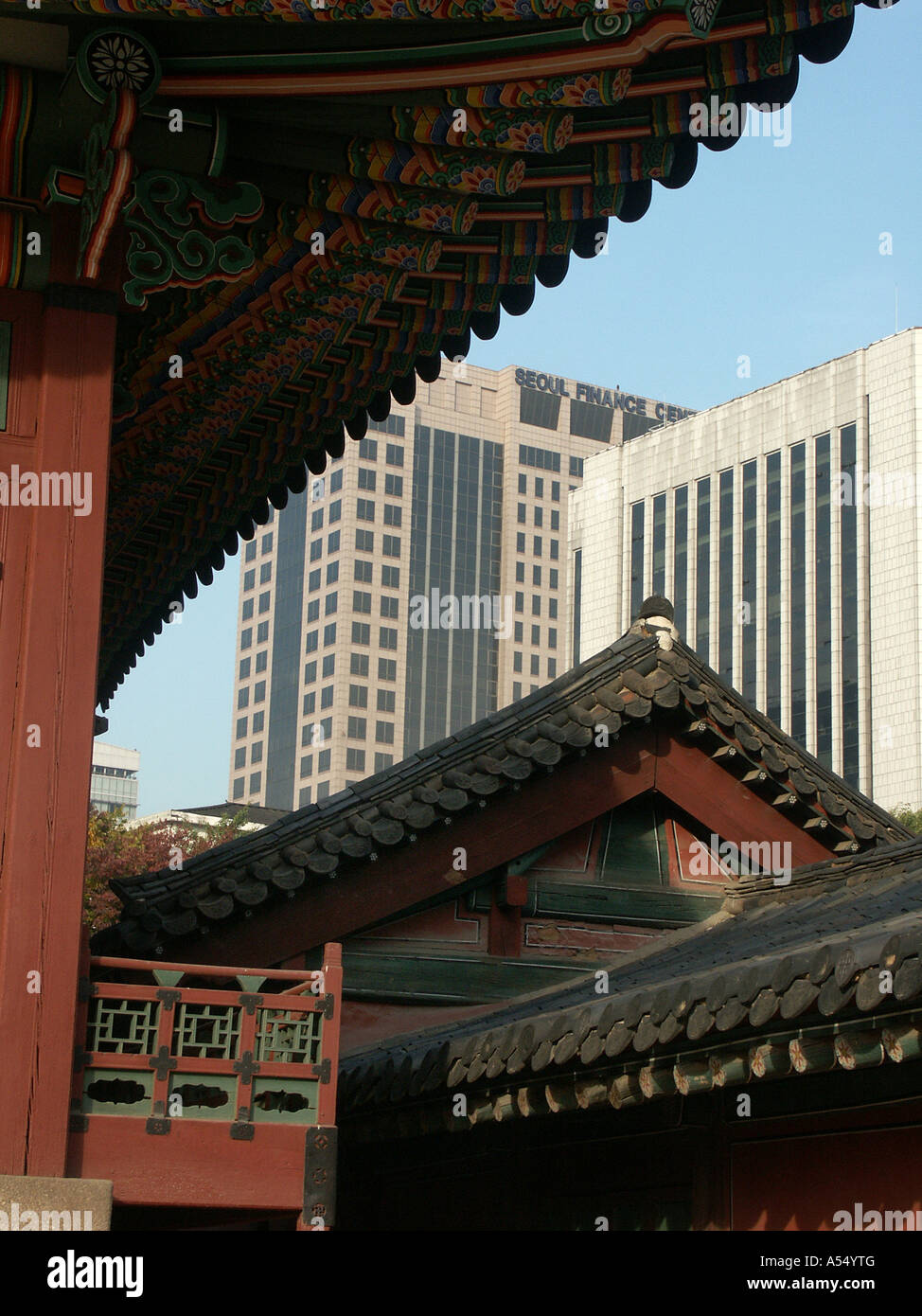 Painet ip2235 korea old new royal palace seoul 2003 country developing nation less economically developed culture - Stock Image